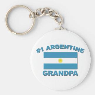 #1 Argentine Grandpa Keychain