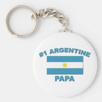 #1 Argentine Papa Keychain