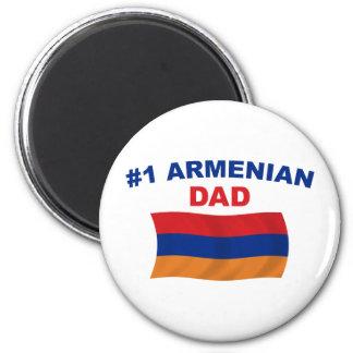 #1 Armenian Dad 2 Inch Round Magnet