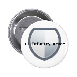 +1 Armor Pinback Button