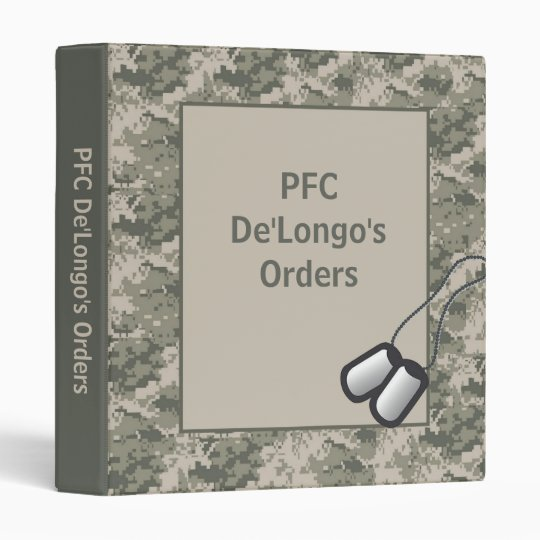 "1"" ARMY ACU Camo Camoufla Orders Book Photo Binder"
