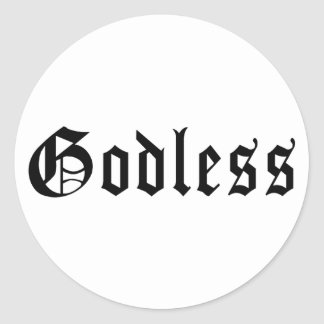 1 ateo pegatina redonda