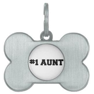 #1 Aunt, #1 Auntie, Number 1 Auntie, Best Aunt Pet Name Tag