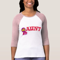 Ladies Raglan Fitted T-Shirt with #1 Aunt Award design