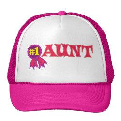 Trucker Hat with #1 Aunt Award design