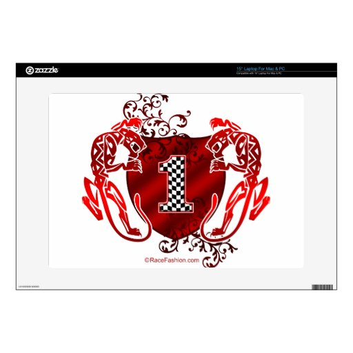 """1 auto racing number tigers decals for 15"""" laptops"""