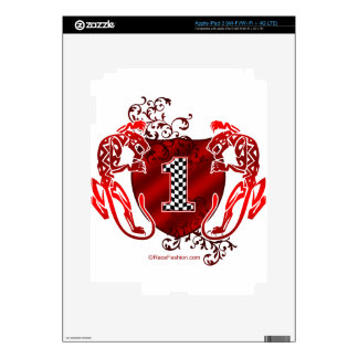 1 auto racing number tigers skins for iPad 3