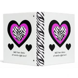 """1"""" Avery: Zebra Heart Binder"""