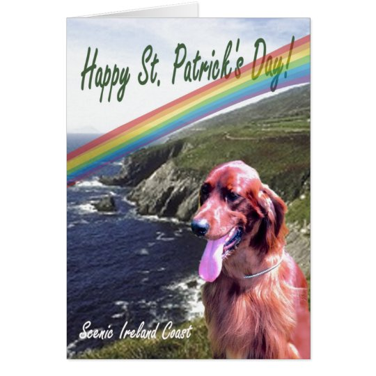 1. Awesome Ireland Scenic Coast St. Patrick's Day Card