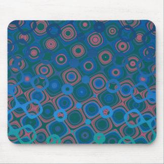 '1' azul marino manchado tapete de raton