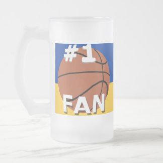 # 1 azul real y oro de la taza de la fan de