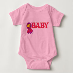 Baby Jersey Bodysuit with #1 Baby Award design