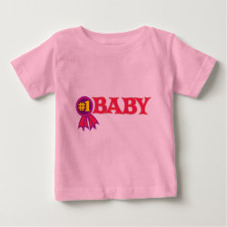 Baby Fine Jersey T-Shirt with #1 Baby Award design