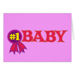 Greeting Card with #1 Baby Award design