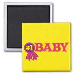 Square Magnet with #1 Baby Award design