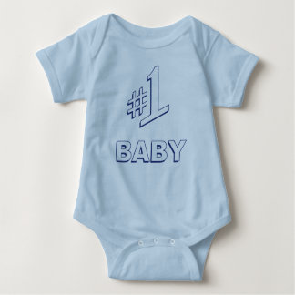 #1 Baby Number One Baby Bodysuit