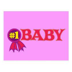 Postcard with #1 Baby Award design