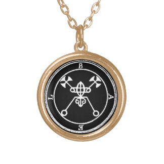 1. Bael - Goetia stamp Knick-knack Gold Plated Necklace