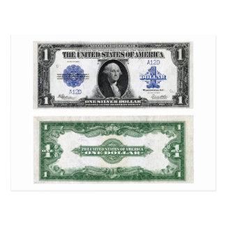 $1 Banknote Silver Certificate 1923 Postcard