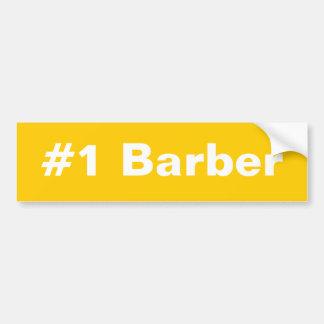 #1 Barber Bumper Sticker