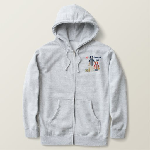 #1 Baseball Dad and Child Embroidered Hoodie