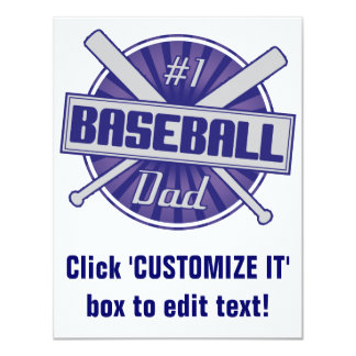 #1 Baseball Dad Card