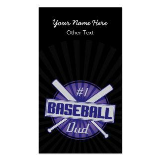 #1 Baseball Dad Customized Baseball Cards Business Card
