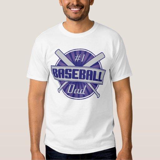 #1 Baseball Dad T-Shirt