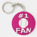 #1 Baseball Fan Keychain