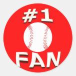 #1 Baseball Fan Stickers