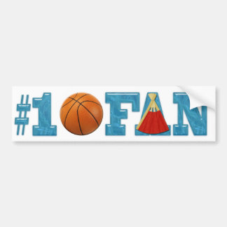 #1 Basketball Fan Bumper Sticker