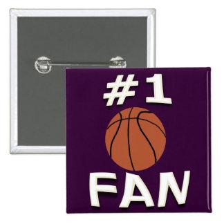 #1 Basketball Fan Button