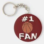#1 Basketball Fan Keychain