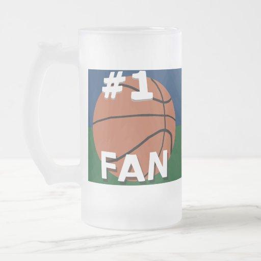 #1 Basketball Fan Mug Navy Blue and Green