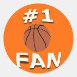 #1 Basketball Fan Stickers
