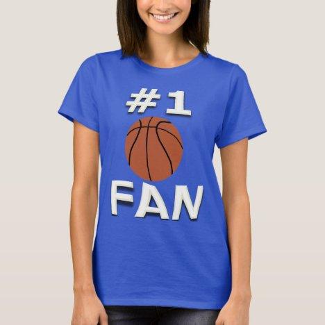 #1 Basketball Fan T-Shirt