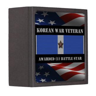 1 BATTLE STAR KOREAN WAR VETERAN JEWELRY BOX