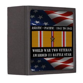 1 BATTLE STAR WWII Asiatic Pacific Veteran Keepsake Box