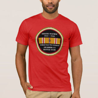 1 BATTLE STAR WWII Asiatic Pacific Veteran T-Shirt