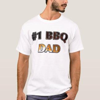 """""""#1 BBQ DAD"""" Fire Design T-Shirt"""