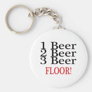 1 Beer 2 Beer 3 Beer Floor Keychain