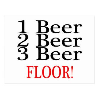 1 Beer 2 Beer 3 Beer FLOOR Postcard