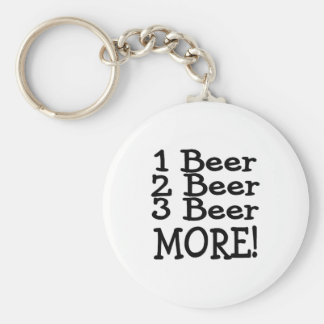 1 Beer 2 Beer 3 Beer More (Black) Keychain