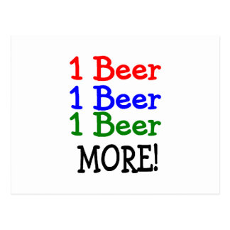 1 Beer 2 Beer 3 Beer More Postcard