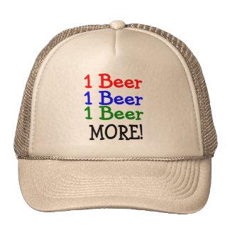 1 Beer 2 Beer 3 Beer More Trucker Hat