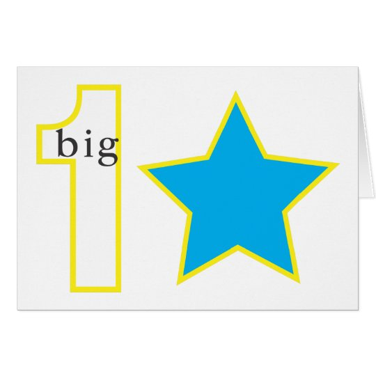 1 BIG STAR GREETING CARD