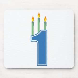 1 Birthday Candles (Blue / Green) Mouse Pad