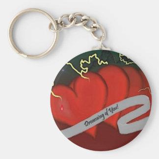 #1 Bleeding Hearts Keychain