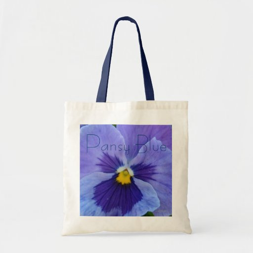 1 Blue Beauty Pansy Canvas Bags