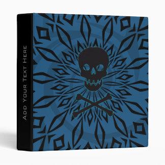 "1"" Blue Rage Skull Binder"